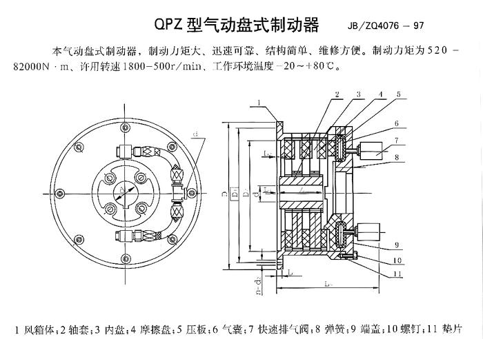逆止器  气动盘式制动器的制动盘上还开了许多小孔,以加速通风散热和图片